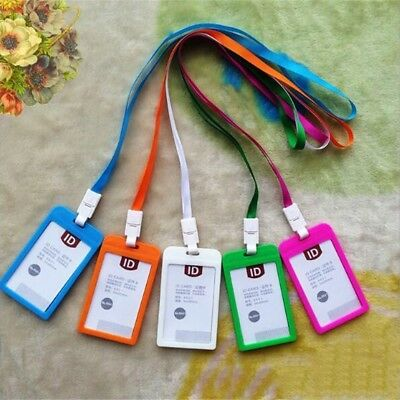 ID Lanyard Neck Strap Clip And Badge Pass Card Holder Pocket Wallet Pouch • 1.23£