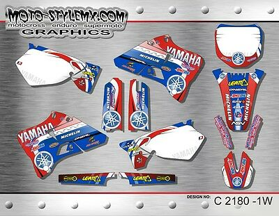AU189.90 • Buy Yamaha YZ 125 250 1996 Up To 2001 Graphics Decals Stickers Kit Moto StyleMX