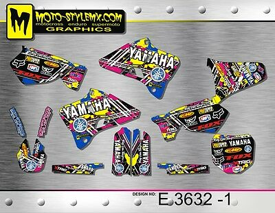 $144.81 • Buy Yamaha YZ 125 250 1996 Up To 2001 Graphics Decals Stickers Kit Moto StyleMX