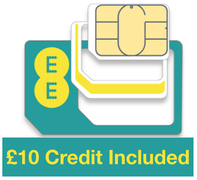 £5.99 • Buy EE Pay As You Go Trio Sim Card, Preloaded With £10 Credit