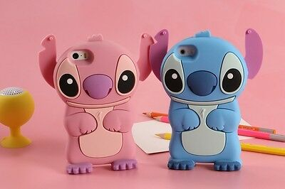 3D Stitch Silicone Phone Case For IPhone X SE 5 6 7 8 Plus Samsung LG HTC Huawei • 3.99£