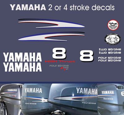 AU42 • Buy YAMAHA 8hp 2 Stroke And 4 Stroke Outboard Decals