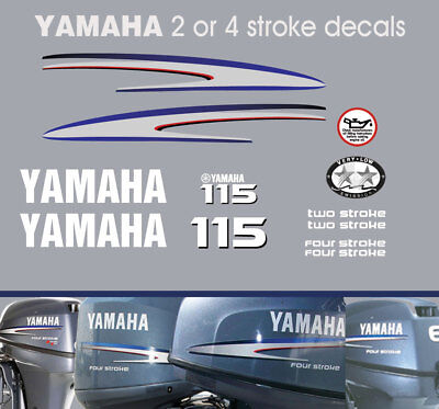 AU95 • Buy YAMAHA 115hp 2 Stroke And 4 Stroke Outboard Decals