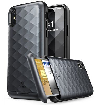 AU19.95 • Buy APPLE IPhone X / XS Case Clayco Argos Series Hybrid Protective Wallet Card Cover