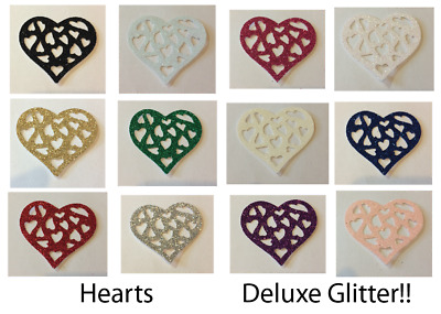 Hearts DELUXE GLITTER! Multi Listing! 30 Pieces! *NEW Colours*  NOW ON LIMITED  • 1.25£