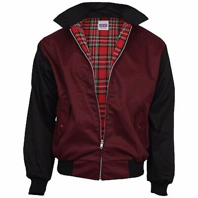 Relco Burgundy & Black Rockabilly Harrington Jacket Retro Indie S - XXL • 36.99£