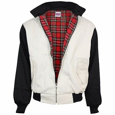 Relco Beige & Black Rockabilly Harrington Jacket Retro Indie S - XXL • 36.99£