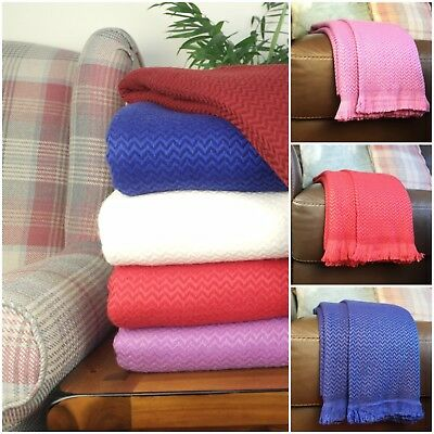 New Cashmere Wool Sofa Throws Bed Blankets Chair Hand-Woven  • 59.99£