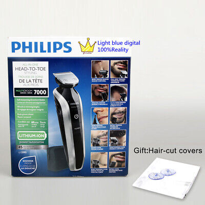 AU80.74 • Buy Philips Norelco Multigroom Pro Trimmer Series 7000 With Pouch QG3393/15