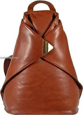 New Very Stylish Visconti Brown Soft Leather Backpack Rucksack Bag • 79.99£