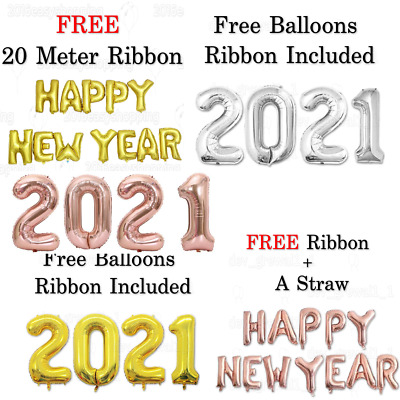 Happy New Year 16  Assorted Foil Balloons New Year Eve Party Decoration BaloonUK • 4.99£