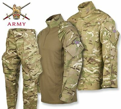 British Army Pcs Set Trousers Shirt Ubacs Mtp Multicam Issue Uniform Used • 45£