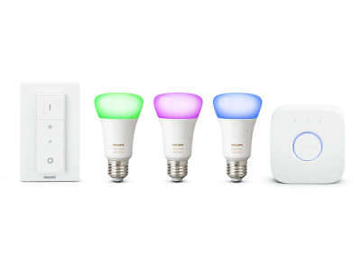 AU297.88 • Buy Philips Hue E27 ES White Colour Ambience Richer Colours Starter Kit With Dimmer
