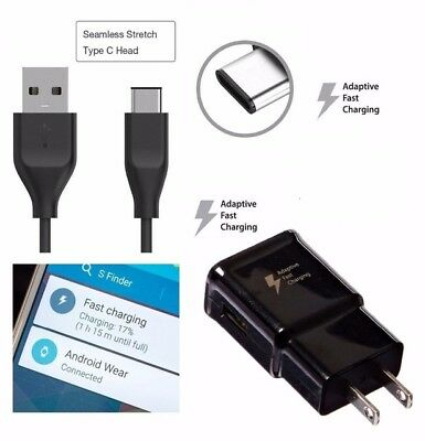 $ CDN8.98 • Buy OEM Fast Adaptive Charging Wall Charger Type C Cable For Samsung S8 S9 Note 8 9