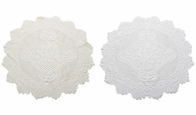 Pair Of Traditional Floral Lace Doilies Vintage Home Table Large Doyley Mat 20  • 8.90£