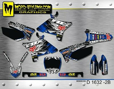 AU189.90 • Buy Yamaha YZ 125 250 2002 Up To 2014 UFO RESTYLED Decals Graphics Kit Moto StyleMX