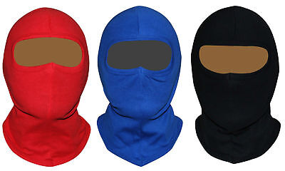 BALACLAVA OPEN FACE MOTORCYCLE MOTORBIKE HELMET SOFT SKI 100% COTTON Face Mask • 2.98£