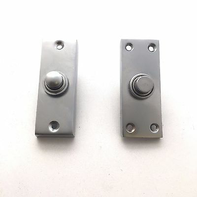 Solid Satin Chrome Victorian Door Bell Chime Push Button Press  • 7.99£