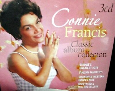 £7.10 • Buy Classic Album Collection By Connie Francis NEW! 3 CD BOX, Greatest Hits 51 Songs