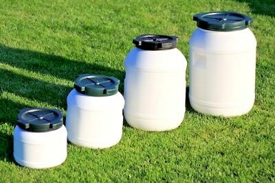 £15.95 • Buy Plastic Barrel With Screw Cap Lid Ideal For Food Storage - Fermentation 5L-65L