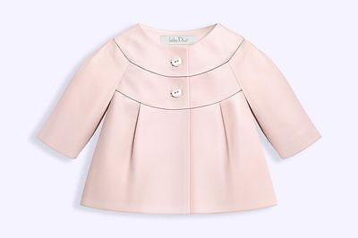 Baby Dior Pink Dipped Lambskin Leather Jacket 12 Months • 400£