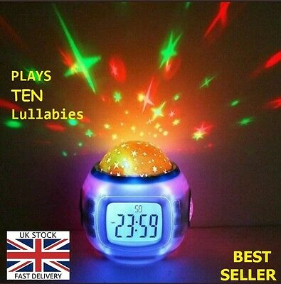 Gift For Newborn Babies Musical Lullaby Projector Star Sound Sleep Toy Family Uk • 22.90£