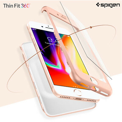 AU54.99 • Buy Spigen Thin Fit 360 Full Cover Protection Phone Case Cover For IPhone 8 & 8Plus