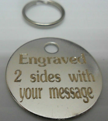 Brass/nickel Engraved Dog/cat Id Name Tag Disc Personalised Pet Identity Tags  • 2.65£