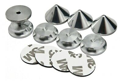 £12 • Buy ALUMINIUM Speakers Spikes And Pads Shoes Feet HIFI Stands Speakers