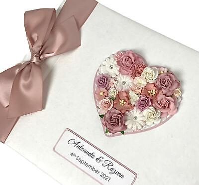 Wedding Guest Book LARGE Rustic Floral Heart. LUXURY Personalised Any Colour!  • 27.99£