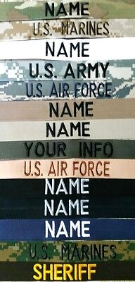 $3.85 • Buy Easy Order Name Tapes-military-law Enforcement Sew On