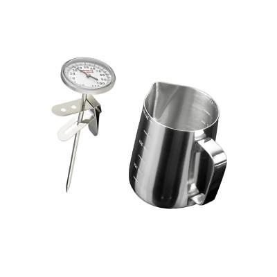 $16.40 • Buy Instant Read Espresso Steamed Milk Frothing Thermometer Coffee Pitcher Set