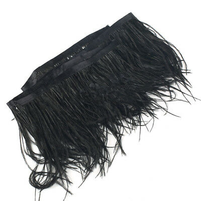 £3.68 • Buy Ostrich Feather Dyed Fringe Trim 1 Yard For DIY Costume Hat Sewing Craft Decor