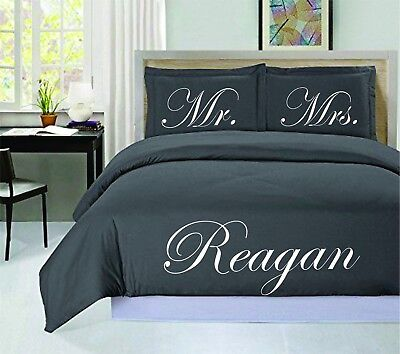 £88.50 • Buy Mr And Mrs Personalized Duvet Cover