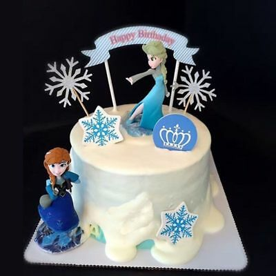 £2.59 • Buy Frozen Princess Cake Toppers Elsa  Anna  Disney Toy Decorations