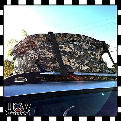 $45.75 • Buy Car Roof Top Cargo SUV Deluxe Carrier Bag Storage Weather Proof Luggage Camo