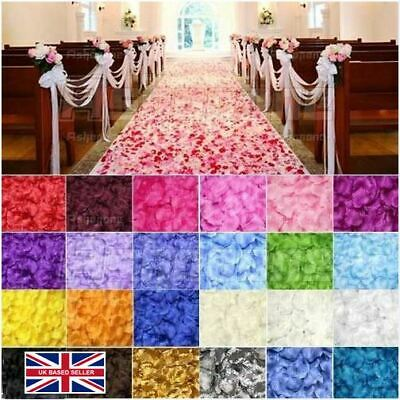 £1.09 • Buy 100 Silk Fabric Rose Petals–Wedding Party Table Confetti & Flower Girl Sprinkles