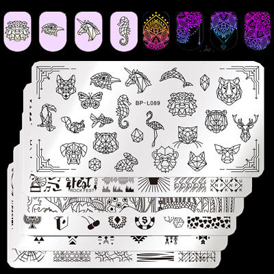 $0.70 • Buy BORN PRETTY Nail Stamping Plates Horse  Nails Art Image Templates DIY