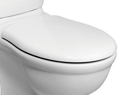 £32.99 • Buy Replacement White Toilet Seat Fits Ideal Standard Alto  Hinges Included E759001