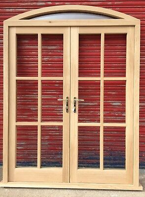 £1780 • Buy Solid Oak French Doors With Arched Top Light Georgian Made To Measure! Bespoke!
