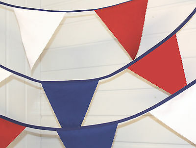 Red, White And Blue 10 Mtr Bunting - Royal Wedding / VE Day • 10.99£