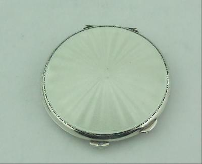 £159 • Buy Vintage White Guilloche Enamel & Solid Sterling Silver Compact.
