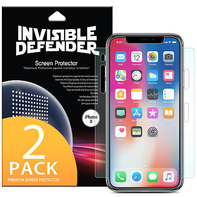 AU10.67 • Buy For IPhone X 10 Screen Protector   Ringke Invisible Defender Full Coverage 2pc