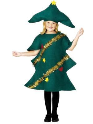 Kids Christmas Tree Costume Childrens Fancy Dress Costume Green Xmas Outfit • 8.99£