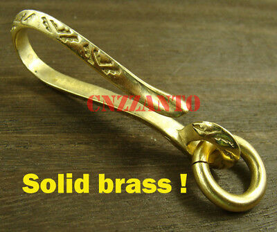 £7.16 • Buy Totally Brass Fob Wallet Key Chain Ring Belt Hook Clip H166