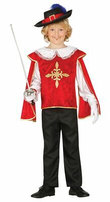 Boys Musketeer Medieval French Historical Fancy Dress Costume Book Day Outfit • 12.99£