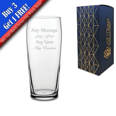Personalised Engraved Jubilee Pint Cider Beer Glass - Perfect Gift Present • 8.95£