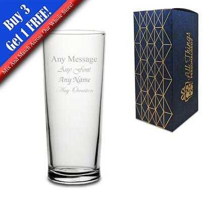 Personalised Engraved Senator Pint Cider Beer Glass - Perfect Gift Present • 7.95£