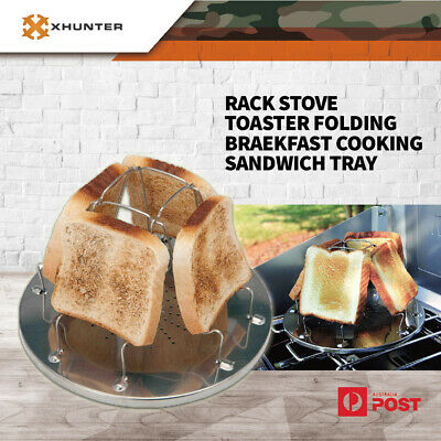 AU15.60 • Buy Toast Rack Stove Toaster Folding Breakfast Cooking Sandwich Tray Outdoor Camping
