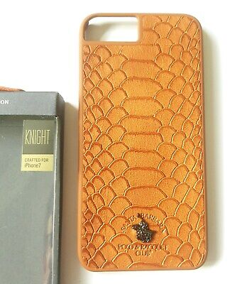Faux Snake Skin IPhone 7 Or 7+ Case Knight Smart Red Black Or Brown • 4.99£